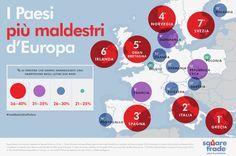 I paesi più maldestri d'europa con gli smartphone