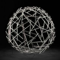 90-Strut Tensegrity Sphere Design by Buckminster Fuller - my dad made me one of these when he was building Experimental Aircraft and working on struts.