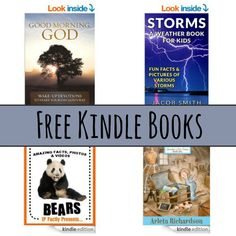 Free Kindle Book List: Good Morning God, Storms, 101 Facts About Bears, and More