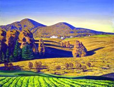 Rockwell Kent :: The Johnson Collection (Spartanburg, SC): Wonderful! A bright morning! Note by Roger Carrier. Or afternoon? Rockwell Kent, Landscape Art, Landscape Paintings, Landscapes, Virginia Hill, Ashcan School, Monhegan Island, Prairie Style Houses, Paisajes