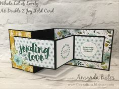 A6 Double Z Joy Fold card featuring Whole Lot of Lovely & Lots of Love by Amanda Bates at The Craft Spa. Independent Stampin' Up! UK Demonstrator, Blogger & Online Shop