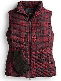 The understated plaid pattern makes this universally flattering puffer vest especially fun to wear.