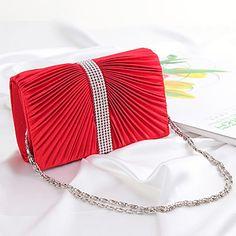 Women Silk Wedding Evening Bag Gold / Red / Black / Fuchsia - AUD $ 21.44