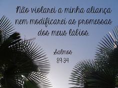 Terezinha Tavares: Salmos 89:34