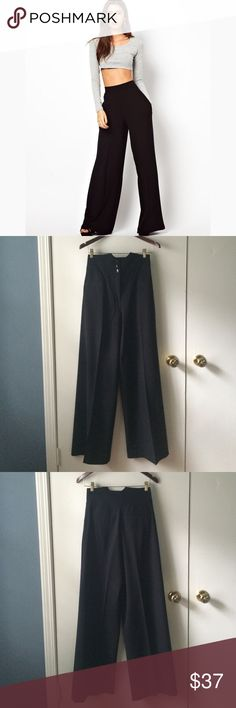 Kenzie high-waisted wide leg pants These pants are so cute and perfect for work  re-poshing bc they didn't quite fit me. First picture for idea Kensie Pants Wide Leg