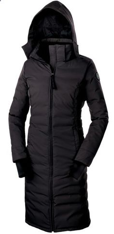 Long and lean Canada Goose Courtenay Coat, $1,000, Sporting Life.