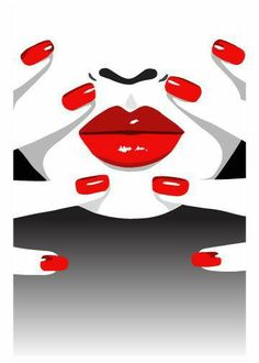 Nail Salon Design, Nail Salon Decor, Salon Art, Pop Art Lips, Online Art Classes, Pop Art Wallpaper, Embroidery Alphabet, Arte Pop, Diy Arts And Crafts