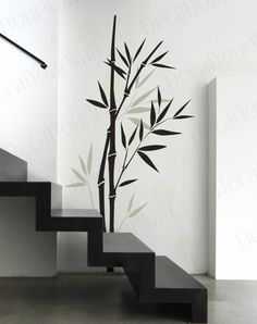 Brett Office - Large Bamboo tree Branch Removable Vinyl Wall Decals Sticker Wall Art Home Decor. $32.95, via Etsy.