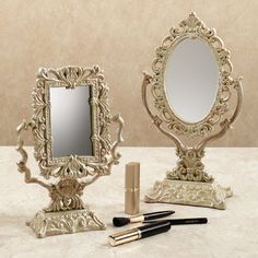 The oval one is nice too for her vanity table
