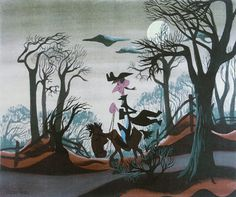 Mary Blair's concept art for Ichabod Crane