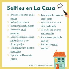 Free printable Spanish scavenger hunts, for kids to teens. These Spanish scavenger hunts are perfect to use at home, both indoors and in the backyard. The printable includes fun selfie options as well, for photo scavenger hunts! Spanish Games, Ap Spanish, Spanish Vocabulary, Spanish Lessons, Spanish House, French Lessons, Vocabulary Strategies, Spanish Alphabet, Spanish Grammar