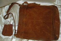 1970s Suede Leather Bucket Style Handbag by twocrazybagladies, $30.00