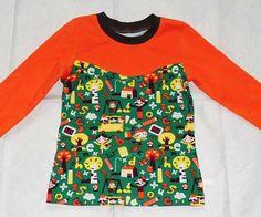Langarmshirt Schulanfang grün orange bunt Gr. 122/128. In Handarbeit hergestelltes Langarmshirt von Ra-Mi-Fashion-Dreams. Jedes Teil ein Einzelstück. Stöbern Sie gerne in meinem Online-Shop und kaufen schöne Handmade Ware. Einzelstück, Kinderkleidung, Handarbeit