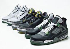 Air Jordan III + IV Oregon Ducks Collection