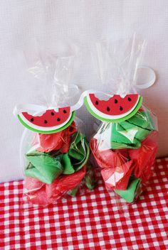 Fresh Summer Watermelon Favor Tags by PinwheelLane on Etsy, $12.00