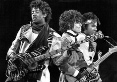 March 11, 1982: Mark Brown, Prince and Dez Dickerson in concert.
