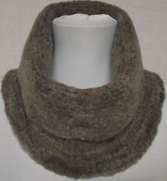 Woodland Hand Knit Felted Cowl Neck Warmer Scarf   by knitme1, $34.00