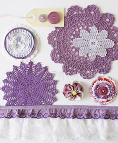 A great idea to revive all those old doilies I've picked up at rummage sales.