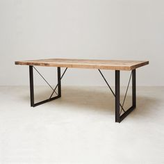 Love this table! This table brings together clean minimal lines with a lightly industrial, rugged build. This is a Limited Edition table, made at the Blake Avenue studios along with a finite line of 99 others. Once there are a hundred made of these chef's tables, that's all there ever will be. 1099.00 at Touch of Modern