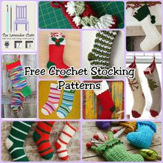Free Crochet Christmas Stocking Patterns - The Lavender Chair