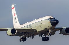 RC-135 Rivet Joint, United States Air Force. Spy Plane based on Boeing 707, 1960's. Still operational.