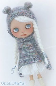 white hair young girl braid hat sweater tutu skirt boots
