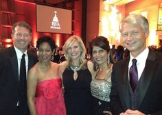 WUSA's Mike Hydeck, Andrea Roane, Jessica Doyle, Monika Samtani, and Russ Ptacek at the Radio & Television Correspondents Association dinner.