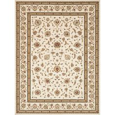 $669 free shipping on Overstock      Primeval Ivory/ Brown Oriental Rug (11'2 x 14'6)