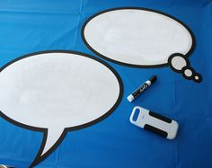 laminated speech bubbles for photo booth