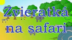 Zvieratká na safari-animované zvuky zvierat pre deti a najmenších-zvuky zvierat žijúcich v afrik