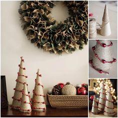 Creative Ideas - DIY Twine and Bead Christmas Trees | iCreativeIdeas.com Follow Us on Facebook --> https://www.facebook.com/iCreativeIdeas