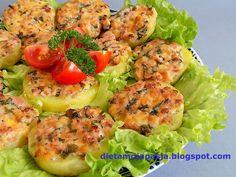 Pyszny obiad z blachy w 20 minut 20 Min, Salmon Burgers, Baked Potato, Grilling, Pizza, Potatoes, Baking, Ethnic Recipes, Impreza