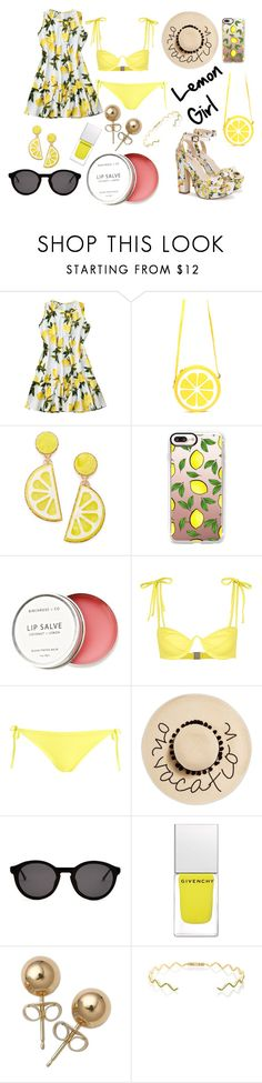 """""""Lemon girl"""" by elsou on Polyvore featuring mode, Celebrate Shop, Casetify, Birchrose + Co., Araks, Topshop, August Hat, Thierry Lasry, Givenchy et Bling Jewelry"""