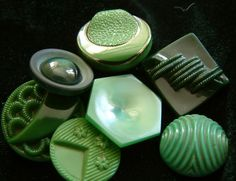 Art Deco Green Buttons