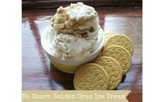 No Churn Golden Oreo Ice CreamLife With The Crust Cut Off