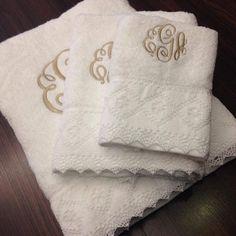 Las mas hermosas toallas bordadas-