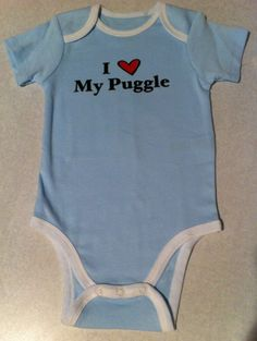 Custom Onesie I Love My Dog, Mom, Dad, Sister, Brother, Cat, Grandma, Grandpa, Aunt, Uncle IRON ON. $8.00, via Etsy.