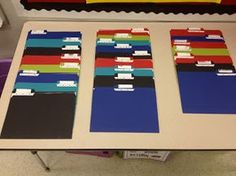 back to school night folders- parent survey and other important info that they return the following week