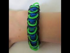 Rainbow Loom ALIENSCALE Bracelet. Designed and loomed by Claire's Wears. Click photo for YouTube tutorial. 04/14/14.