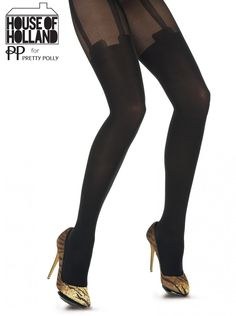 32327d71a4fef These Mesh Super Suspender tights are from House of Holland. A delightful  of combination of elegant opaque and super sexy fishnet.