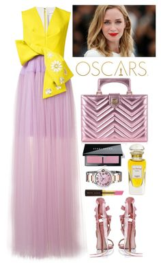 """""""Delpozo"""" by thestyleartisan ❤ liked on Polyvore featuring Delpozo, Gucci, Boohoo, Hermès, Cartier, Kevyn Aucoin, Bobbi Brown Cosmetics, RedCarpet, Oscars and theoscars"""