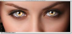 Estilizando olhos com efeitos do Photoshop.