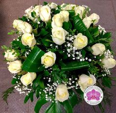 24 White Avalanche Roses to take her breath away 💋 Designer Flowers by Rodgers The Florist, Manchester.