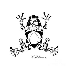 Frog Drawing - Frog by Lisa Schnorr Frog Logo, Sketch Manga, Frog Drawing, Frog Tattoos, Frog Art, Native American Beauty, Tangle Patterns, Frog And Toad, Native Art