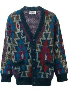 Shop Missoni Vintage Aztec intarsia cardigan in A.N.G.E.L.O Vintage from the world's best independent boutiques at farfetch.com. Shop 400 boutiques at one address.