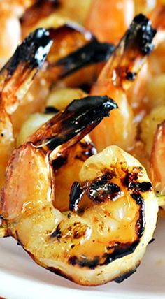 Grilled Coconut-Rum Shrimp