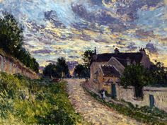 A Path in Louveciennes by Alfred Sisley (1876)