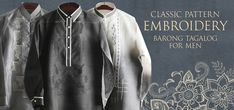 Keep it sharp and streamlined in this Piña-Jusi Barong Tagalog. Expertly made in our Jusi fabric with Chinese collar and hand-embroideryColor: BeigeChinese/Mandarin collar, cuff buttonsClassic Formal fitFully Lined Philippines Culture, Philippines Fashion, Barong Tagalog, Filipiniana Dress, Chinese Collar, Line Shopping, Formal Looks, Mandarin Collar, China