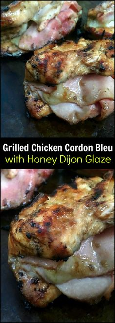 We absolutely LOVE this Grilled Chicken Cordon Bleu with Honey Dijon Glaze!  Perfect for a date night in!