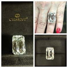 20.62ct Crisscut Emerald engagement ring - i feel wrong wanting this ring, but i just can't help myself!